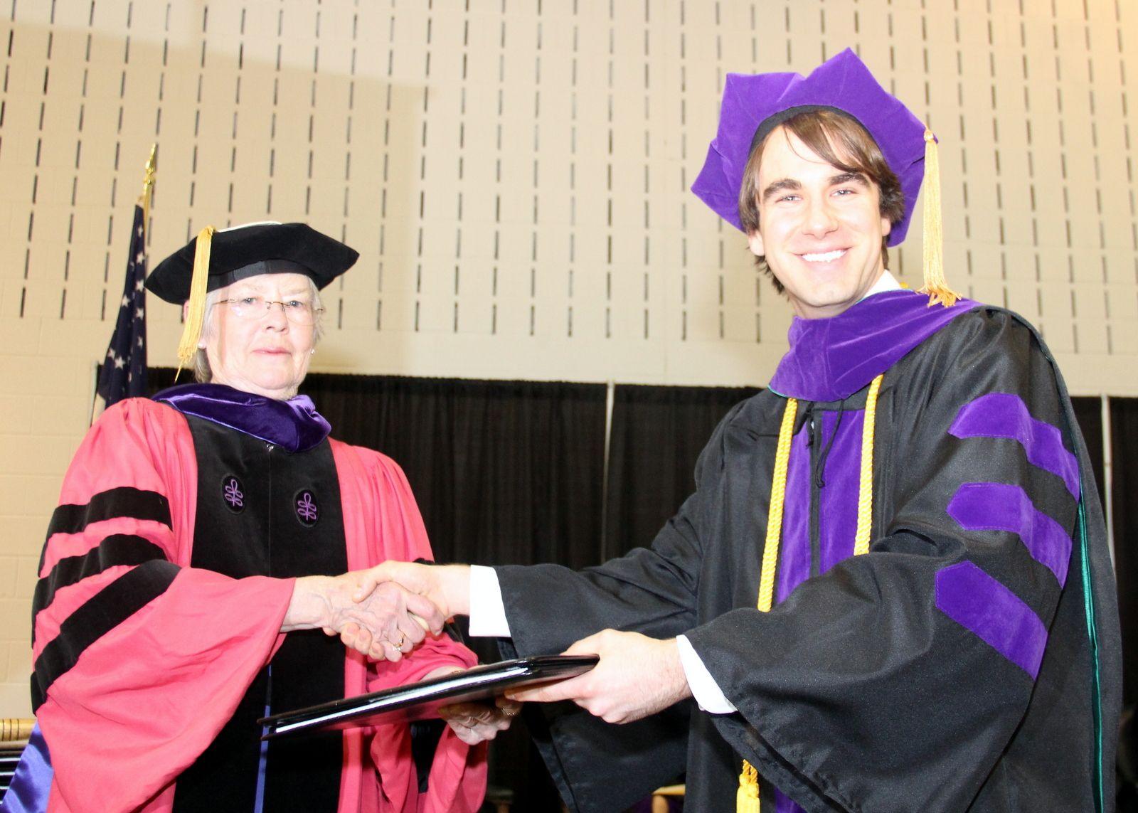 Dean McGough conferring law degree