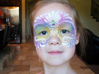 Silly Dragon Face Painting: Pretty Princess Mask