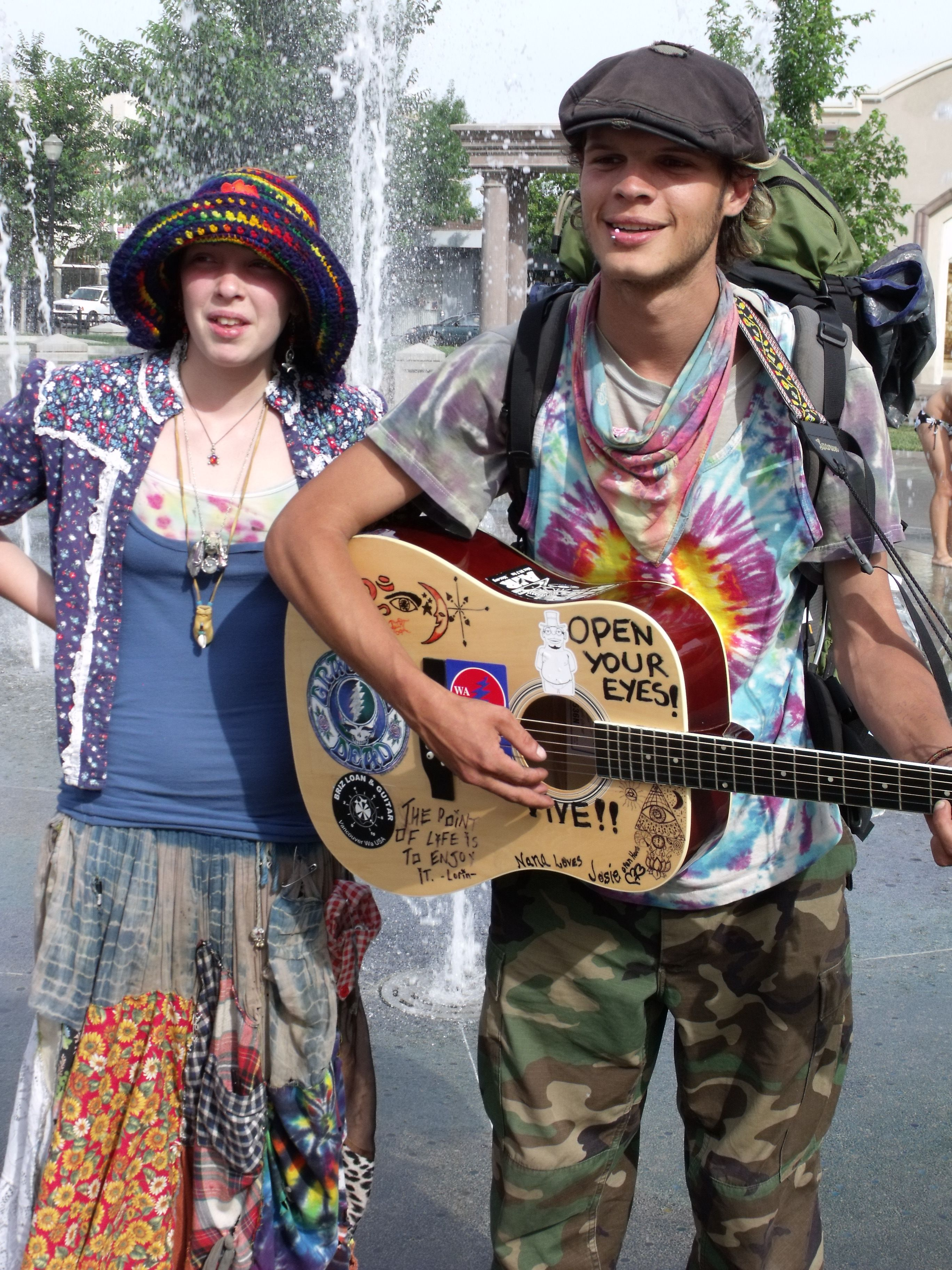 Hippies never go out of style. In northern California you