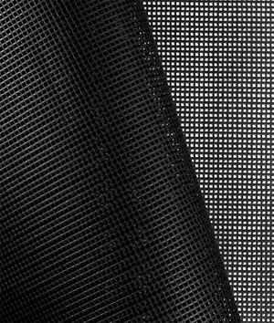 Black 9x9 Vinyl Coated Mesh Fabric Vinyl Fabric Vinyl Mesh Fabric