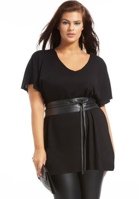 Tunique grande taille Ilona noir   VETEMENTS ETC...   Pinterest ... 3cdb2e13477e