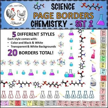 Science page borders chemistry set 2 portrait borders periodic table are you tired of your science handouts or tpt products looking a little dull spice urtaz Gallery