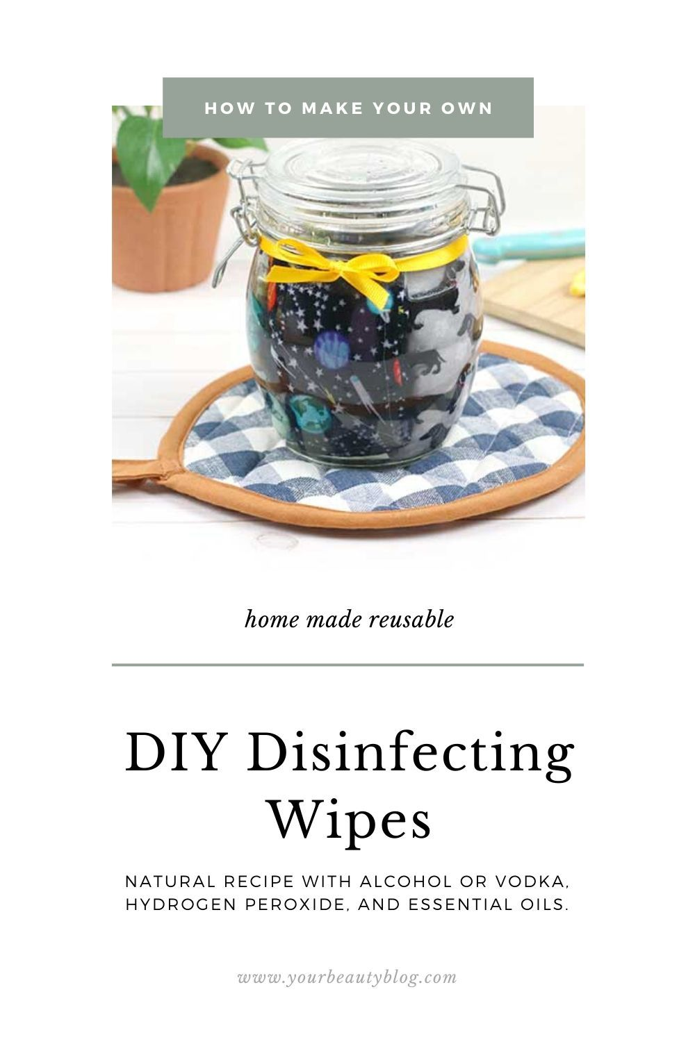 DIY Disinfecting Wipes With 70 Alcohol and Hydrogen