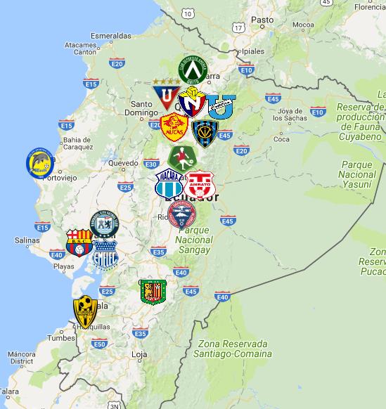 2019 Ecuadorian Serie A Map Football Logo European Soccer Ecuadorian