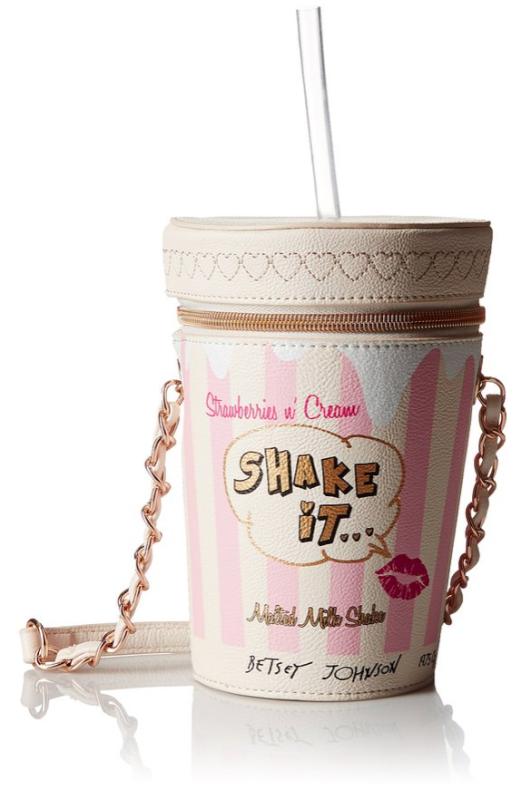 Betsey Johnson Milk Shake Purse {Drop Dead Glam} #handbags #purses #BetseyJohnson