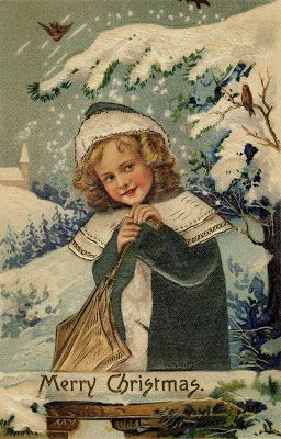 postcard.quenalbertini: Vintage Christmas card | Over The Rainebeau