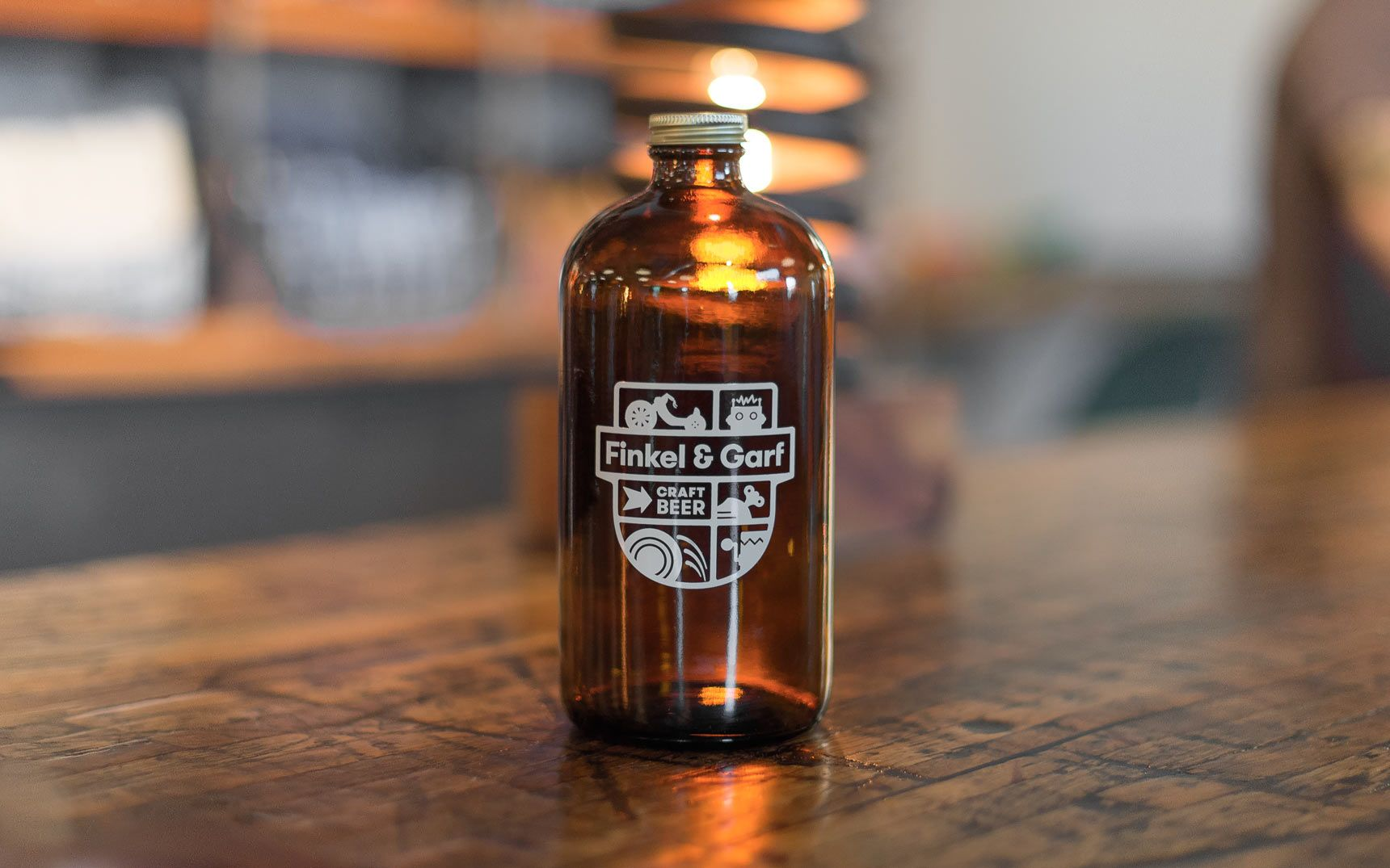 Finkel & Garf Growler Bottle design, Craft beer, Beer