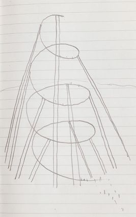 Sketch of Anish Kapoor's orbit. Due for completion this