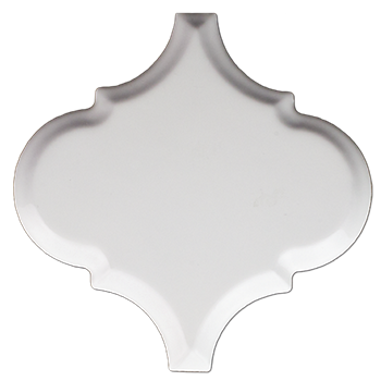 arabesque bianco gloss ceramic wall tile - the tile shop