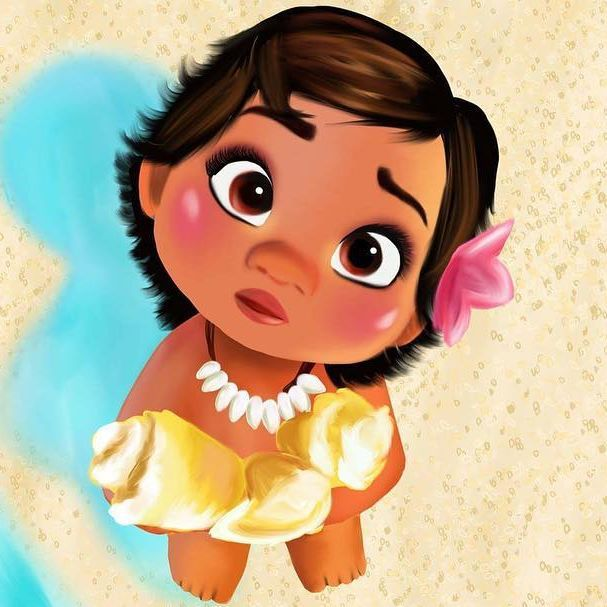 Baby Moana Is Da Cutest Moana Drawing Cute Disney Disney Paintings