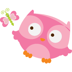 pink owl and butterfly spool pinterest pink owl owl and clip art rh pinterest com pink and brown owl clip art pink and grey owl clip art