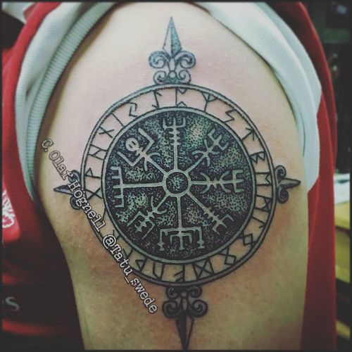 Vegvisir icelandic iceland tattoo - Tatouage runes viking signification ...