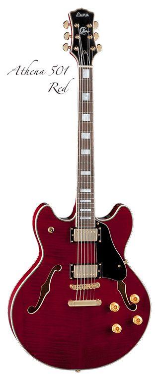 Luna Guitars Athena 501 in red