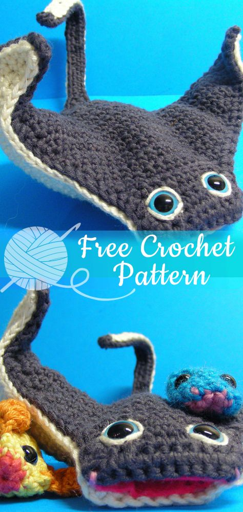 yummy crochet cuddly octopus whale seahorse and dolphin  pattern 9076