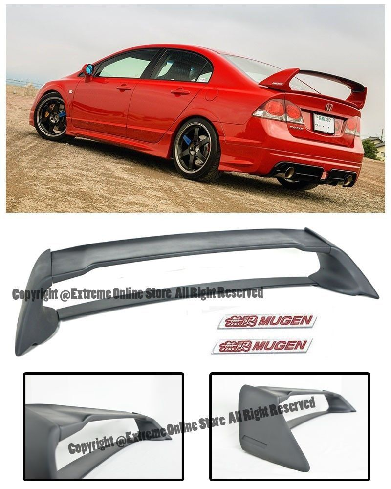 Honda Civic 2008 Spoiler : honda, civic, spoiler, Amazon.com:, 06-11, Honda, Civic, Sedan, Mugen, Style, Plastic, Trunk, Spoiler, W/…, Civic,, Sedan,
