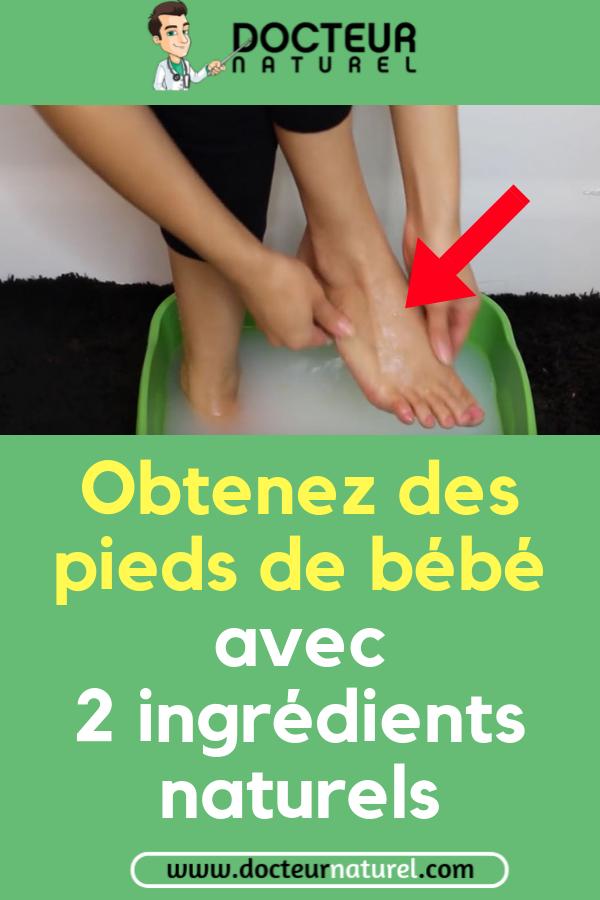 Voici une astuce beaut pour avoir des pieds doux et lisses pied beaut remede naturel doux - Soin des pieds maison ...