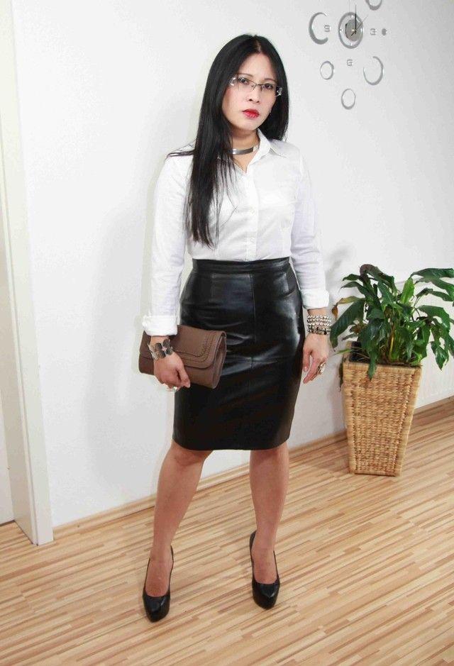 Leather skirt tumblr