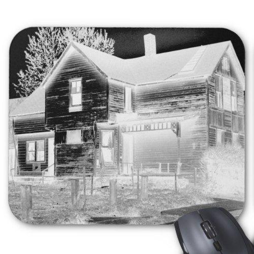 Abandoned House - Negative Mouse Pad
