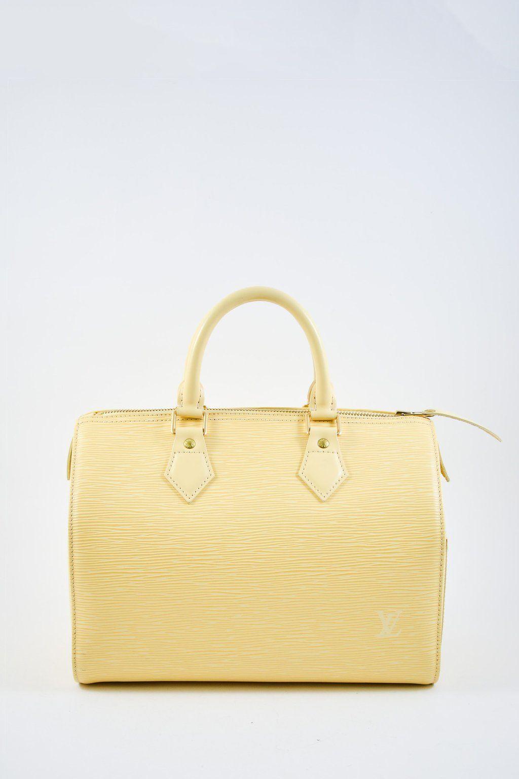 a3171db151f2 Louis Vuitton Vanilla Epi Speedy 25  MineAndYours