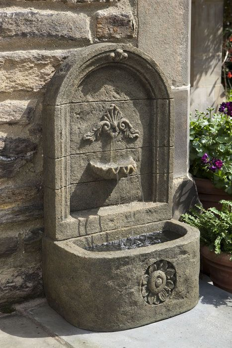 Classic Sandstone Wall Water Fountain Made From