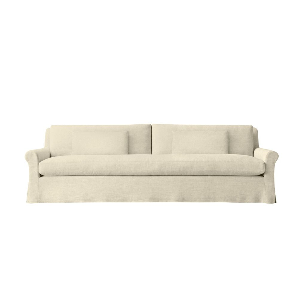 Empire 6 Foot Extra Deep Modern Linen Made To Order Sofa