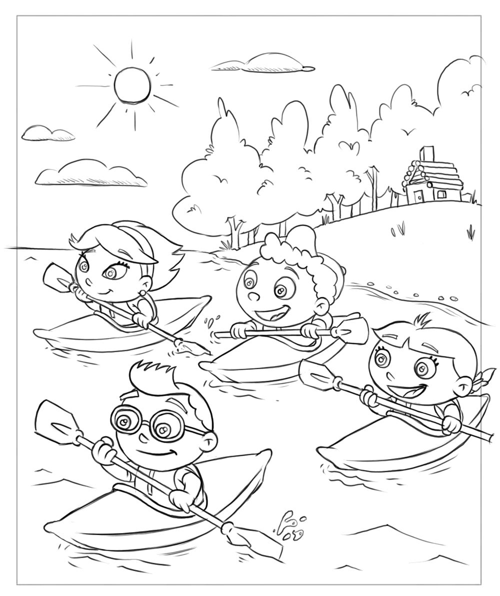 Little Einsteins Coloring Book Drawings. | Frank Summers | Church ...
