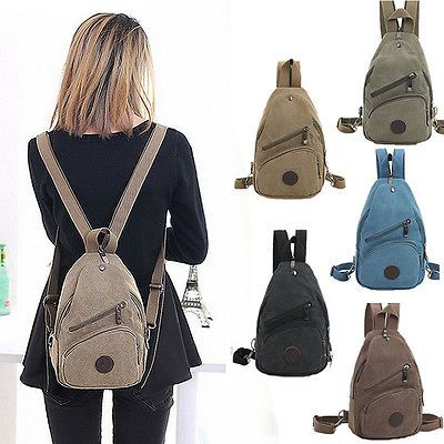 5de958dac32c Womens-Canvas-Convertible-Mini-Small-Sling-Backpack-Rucksack-Travel-Purse- Bag