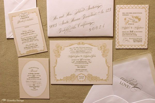 17 Best images about Soft and Elegant Wedding Invitations on – Gold and Pink Wedding Invitations
