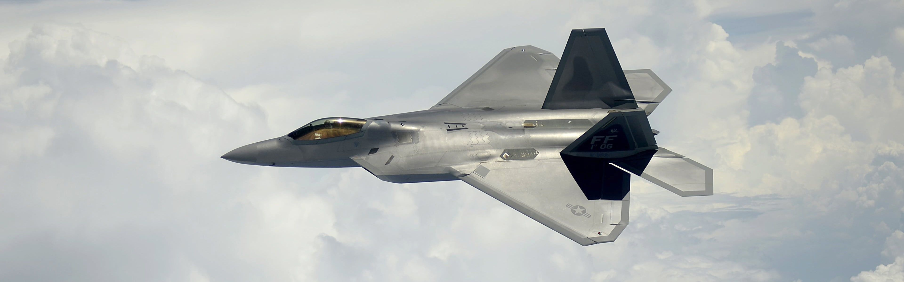 Gray Jet F 22 Raptor Military Aircraft Aircraft Jet Fighter Us