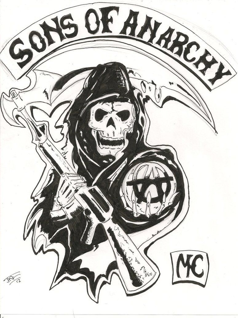 Sons Of Anarchy Logo Drawings Google Search Drawing Pinterest