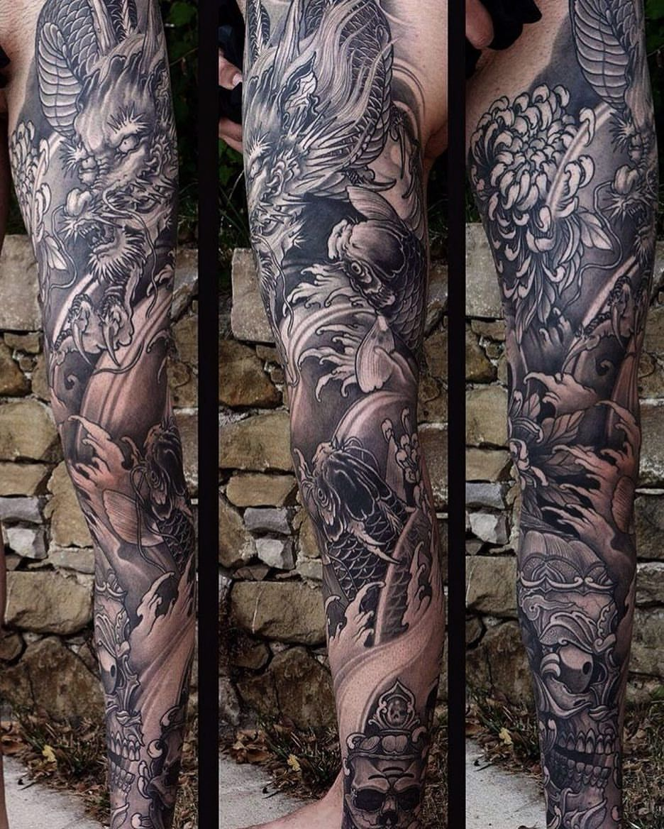 1 731 Likes 7 Comments Japanese Ink Japanese Ink On Instagram Japanese Leg Sleeve Tattoo By Kost Leg Sleeve Tattoo Leg Tattoos Japanese Sleeve Tattoos