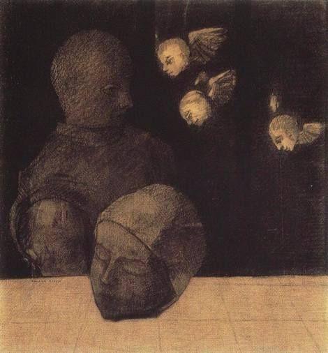 Odilon Redon, Severed head tête coupée, 1878