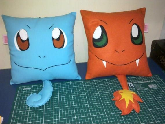 Squirtle and Charmander pillows   pokemons   Pinterest   Stricken ...