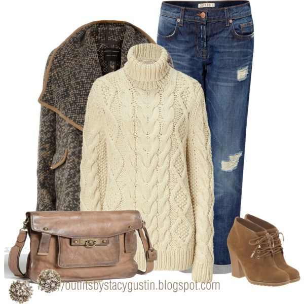 Does this outfit not scream Fall? Autumn leaves? Bonfires? Fall festivals? Oh me oh my...love it all. That Frye Shoulder Bag is fab, especially the color. I do believe I have a chunky sweater similar to this in my closet! Creativity darlins...creativity!