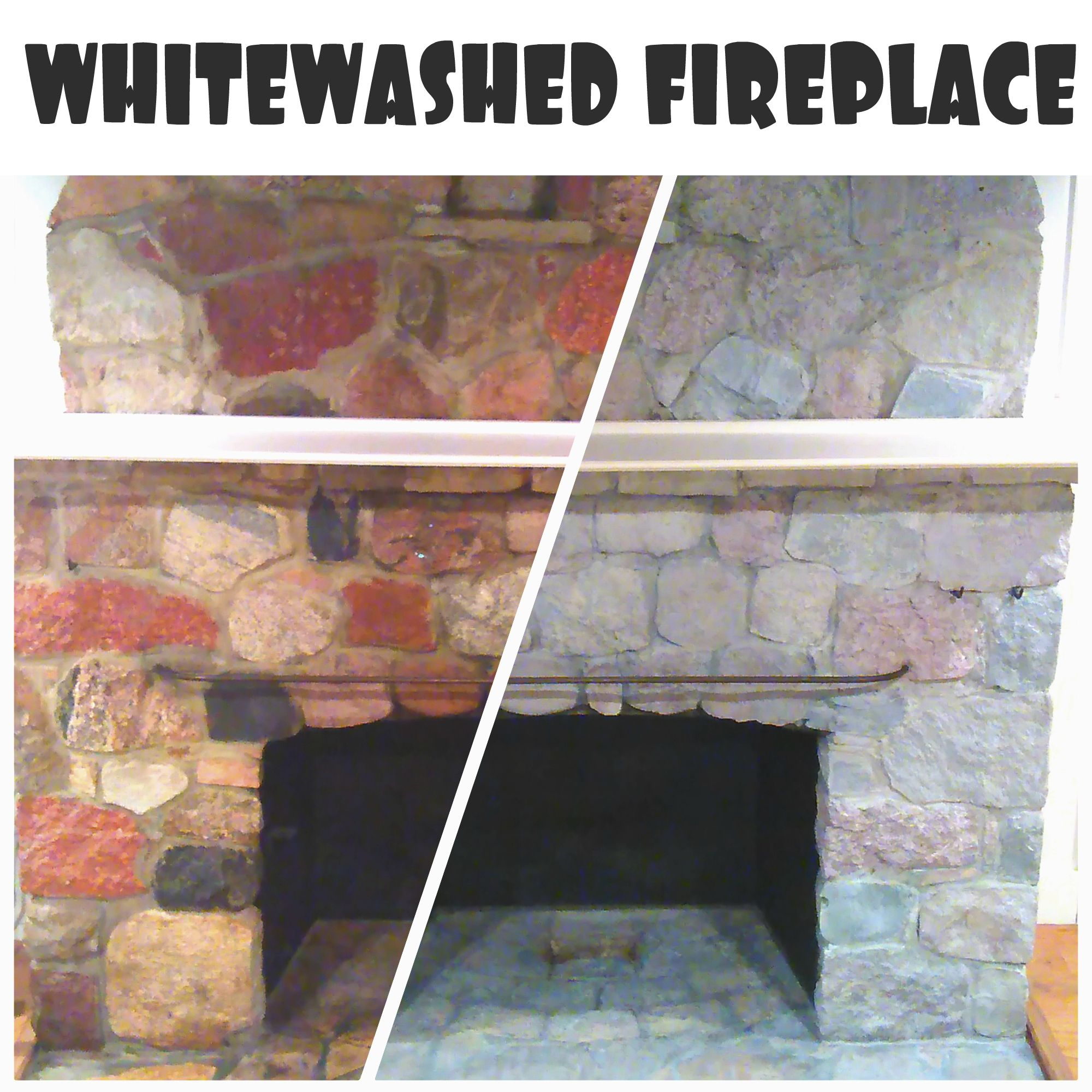 How to easily update an old stone fireplace with a
