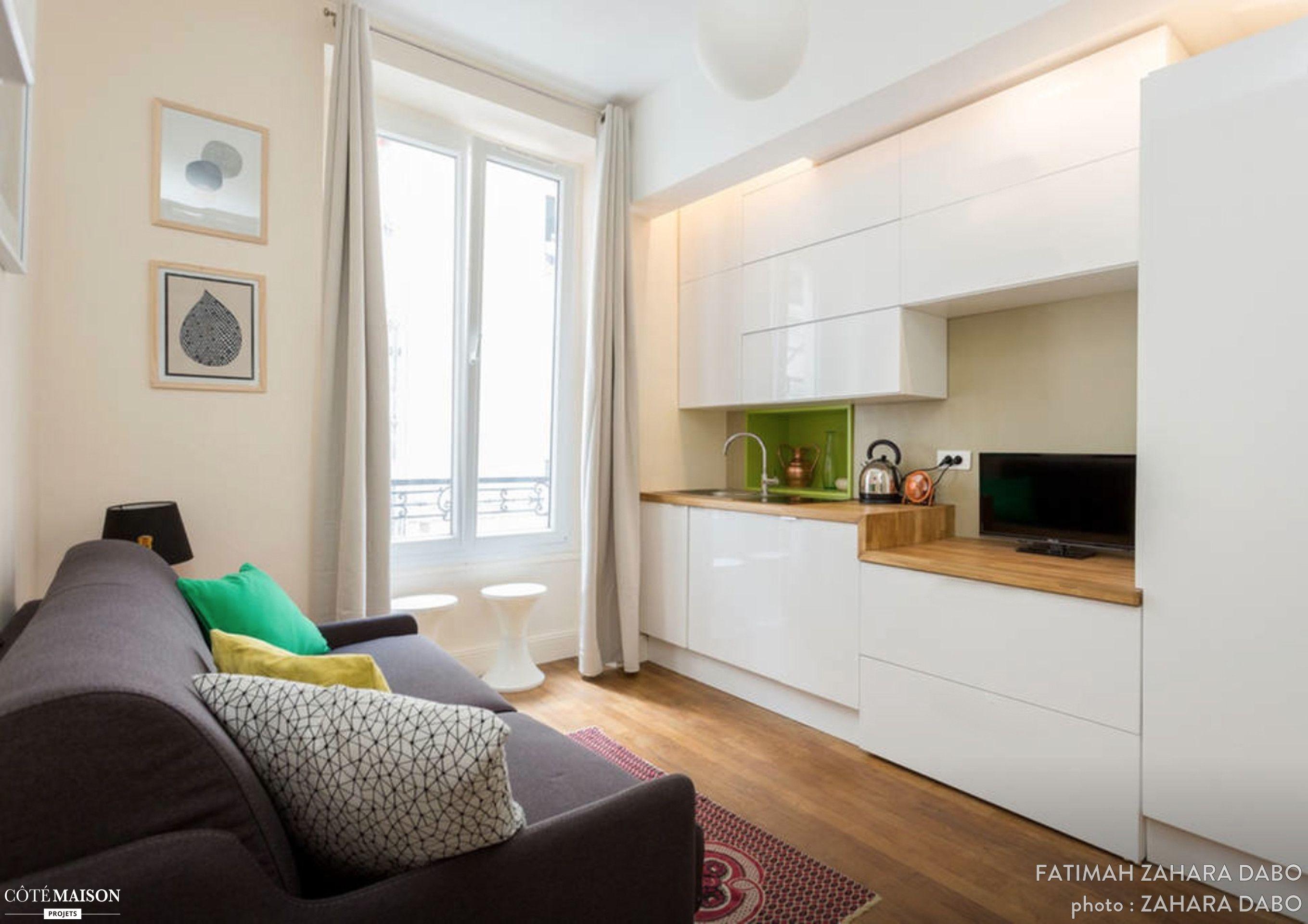 Un pied terre maxi confort paris zahara dabo - Architecte interieur paris petite surface ...