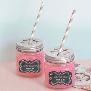 Mason Jar Baby Shower Decorations Chalkboard Baby Shower Personalized Mason Jar Drinking Glasses