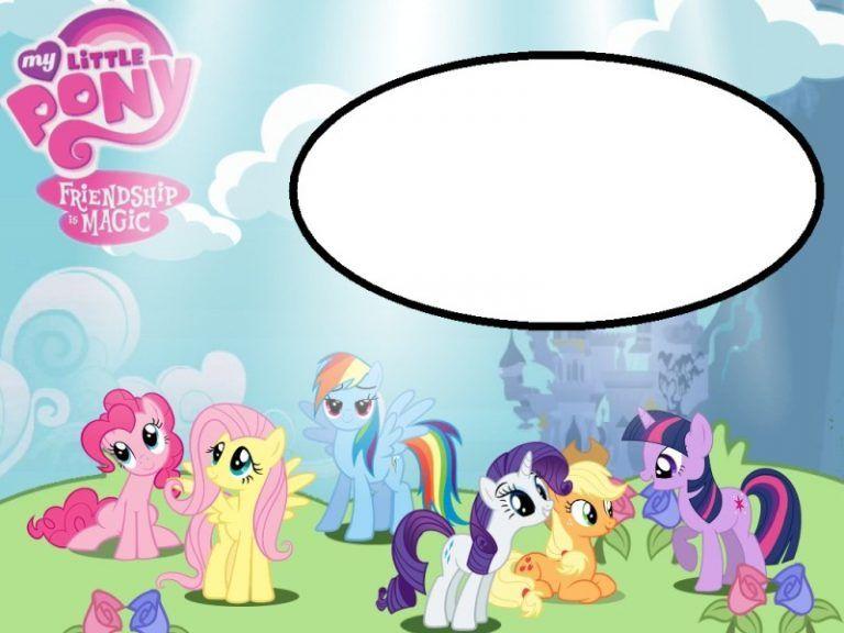 Free Printable Invitations My Little Pony Template My Little Pony Birthday My Little Pony Party Pony Birthday