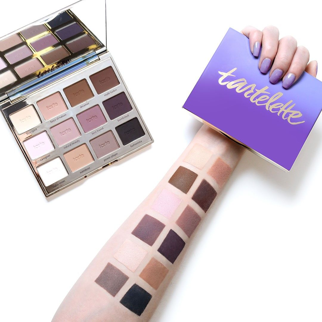 Matte love! Swatches of our original #tartelette palette ...