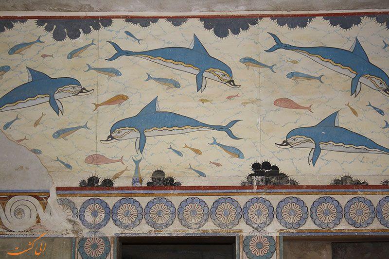 دلفین ها / کنوسوس / مینوسی پسین | Les arts, Dauphin, Fresque