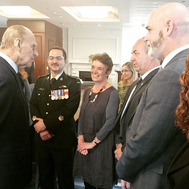 """""""The Duke of Edinburgh meets High Commission staff at Canada House"""""""