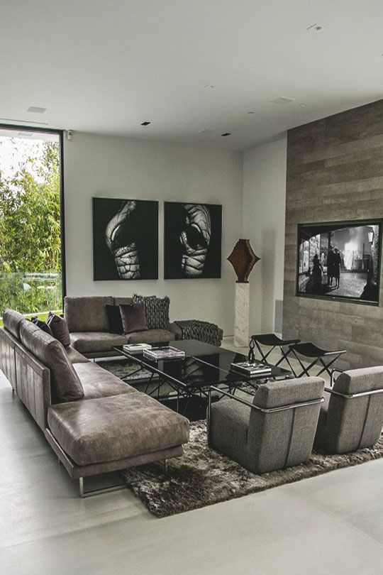 Oh, what a lovely living room! Love the color of the couches and ...