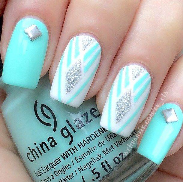 Aqua Blue Fashion Y Pretty Nails Style Summer