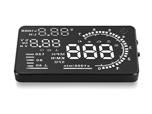 Jeasun A8 Multi-function Car HUD Vehicle-Mounted Head Up Display OBD II EOBD System Model Display of Vehicle Speed Real time Over Speed Alarm Altitude Auto Sleeping Mode