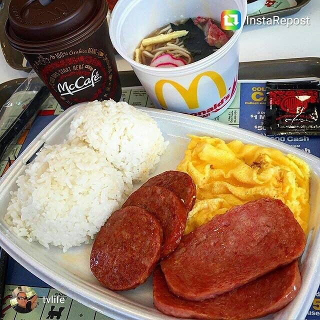 Image result for spam and eggs hawaii mcdonalds