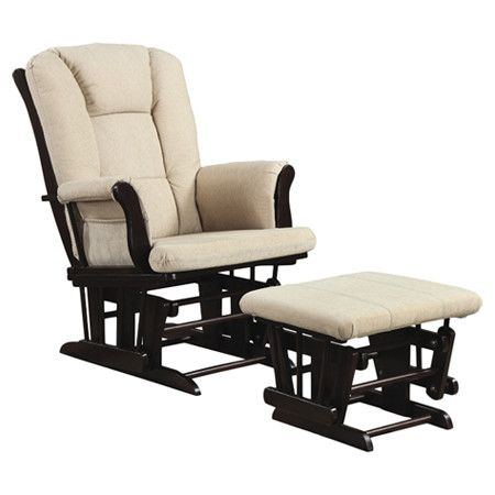 Fine Coaster Company Chenille Glider W Ottoman Beige Products Camellatalisay Diy Chair Ideas Camellatalisaycom