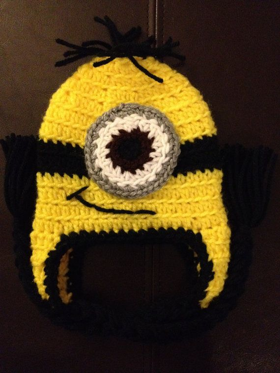 Minion Despicable Me Crochet Baby Newborn Beanie Hat | crochet ...