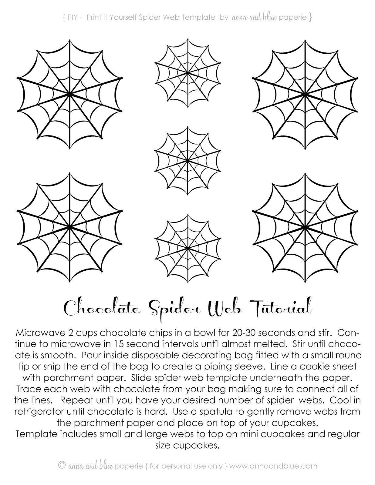 Free Printable Chocolate Spider Web Tutorial
