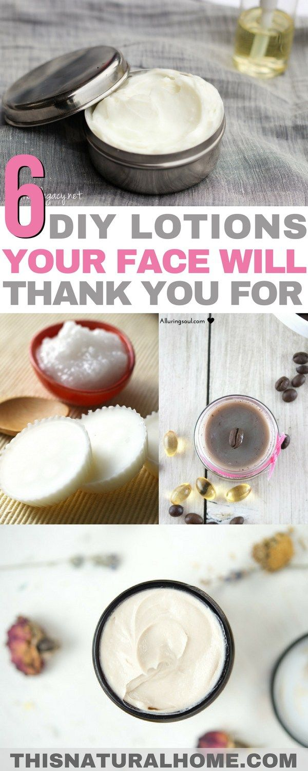 6+ DIY Lotions Your Face Will Thank You For #homemadefacelotion