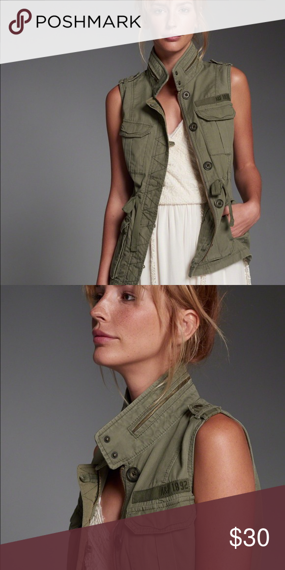 Abercrombie Military Vest New condition. Versatile and stylish. Love love love this look. Abercrombie & Fitch Jackets & Coats